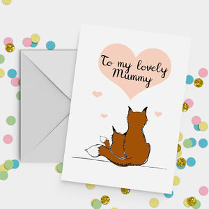 'My Lovely Mummy' Fox Mother's Day Card