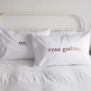 Personalised Pillow Case Set - bed, bath & table linen
