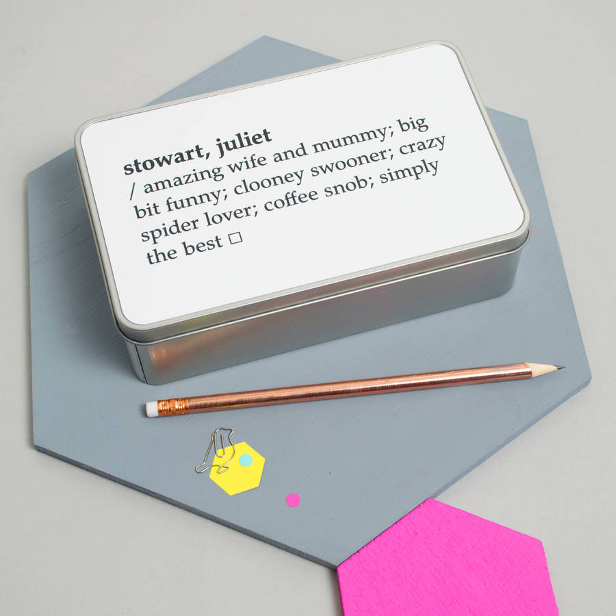 personalised dictionary definition tin by xoxo ...