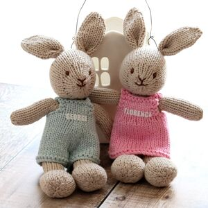 Personalised Hand Knitted Bunny Rabbit