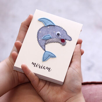 Personalised Dolphin Embroidered Notepad