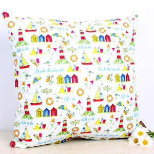 'To Be Beside The Seaside…' Cushion - cushions