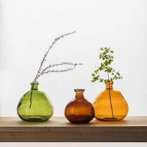 Wells Bubble Vase In Green And Russet - kitchen