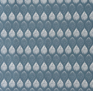 Isabella Blue Organic Cotton Fabric By The Metre