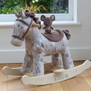Personalised Rocking Horse With Mouse - rocking toys
