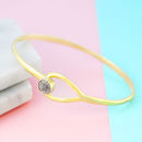 18 K Gold Rough Diamond Birthstone Teardrop Bangle