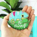 Chameleon Craft Kit, Embroidery Project, Crafting Gift