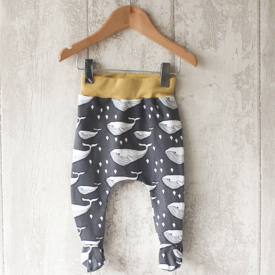 Whale Baby Footed Leggings