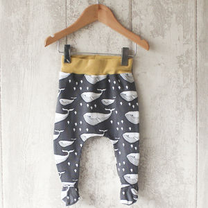 Whale Baby Footed Leggings - trousers & leggings