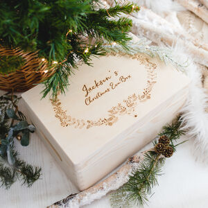 Personalised Christmas Eve Box With Festive Reindeer