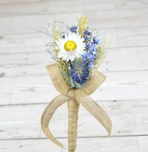 Blue Flower Girl Wand