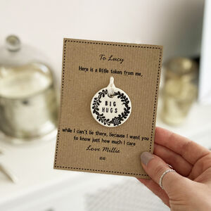 Big Hugs Porcelain Token With Personalised Card