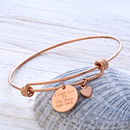 Personlised Bangle Finished In Rose Gold
