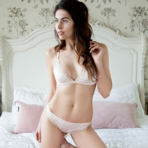 Amara Oyster Silk Knickers - women's fashion