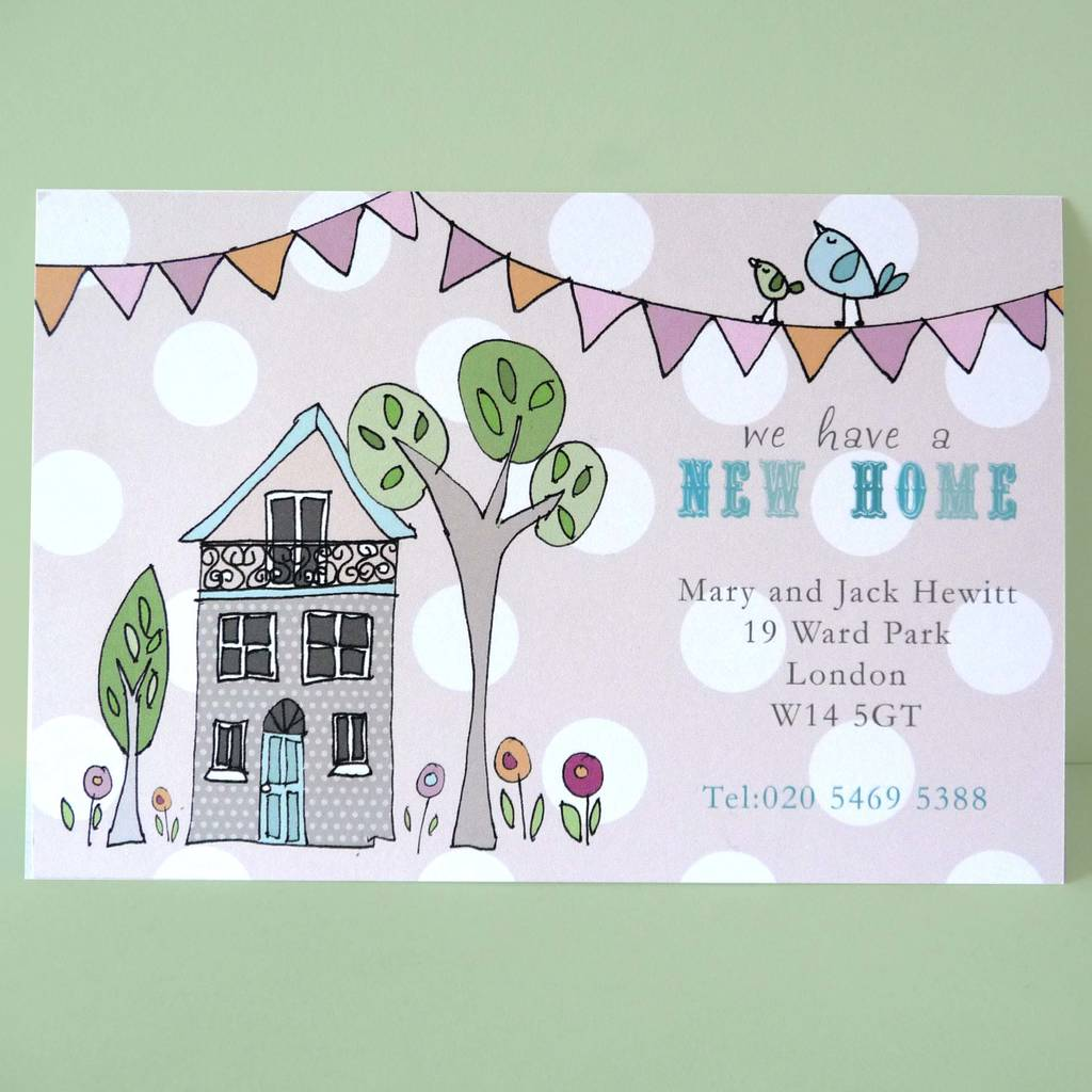 Card Making Ideas For Moving House Part - 18: Change Of Addres Cards