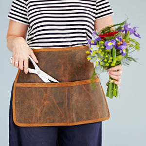 Personalised Buffalo Leather Tool Belt - gardener