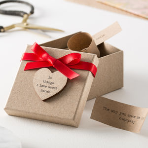 Personalised '10 Things I Love About…' Box - 1st anniversary: paper