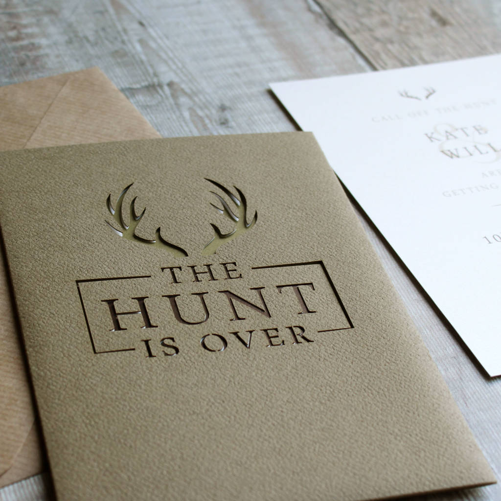 u0027The Hunt Is Overu0027 Stag Pocket Wedding