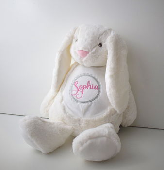 Personalised Bunny Soft Toy Childrens Gift