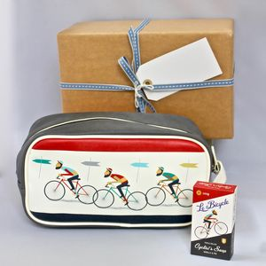 Men's Bicycle Wash Bag ~ Gift Wrapped - wash & toiletry bags