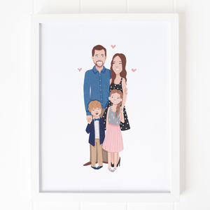 Personalised Family Portrait - nursery pictures & prints