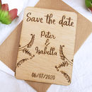 Plants Save The Date Magnet
