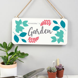 Grandma's Garden Sign - art & decorations