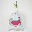 Bird Print Cotton Cushion