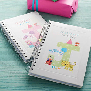 Personalised Kids Alphabet Notebook Choose Any Letter - gifts for children