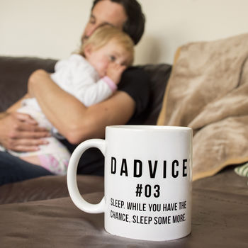 Dad To Be 'Dadvice' Sleep Ceramic Mug