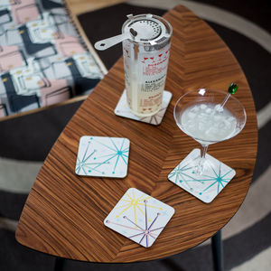 Boxed Set Of Midcentury 'Telstar' Coasters