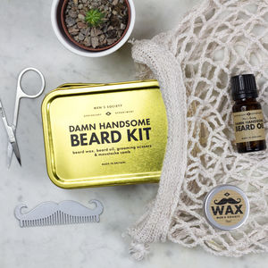 Damn Handsome Beard Grooming Kit - gifts for him