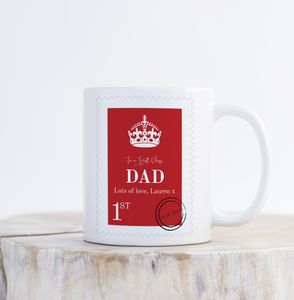 First Class Personalised Father's Day Mug