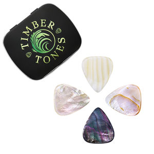 Shell Tones Guitar Plectrums In A Gift Tin - mens