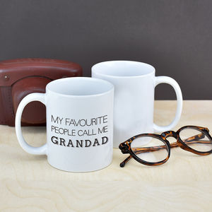 My Favourite People Call Me Grandad Mug - gifts for grandfathers