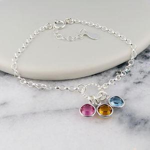 Birthstone Bracelet Sterling Silver - bracelets & bangles
