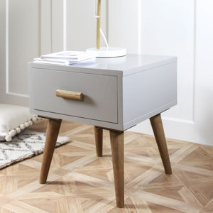 Grey Retro Side Table - furniture