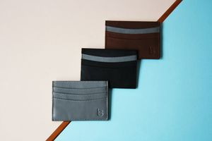 Luxury Leather Card Sleeve - accessories