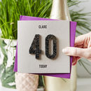 Personalised Numbers Birthday Card