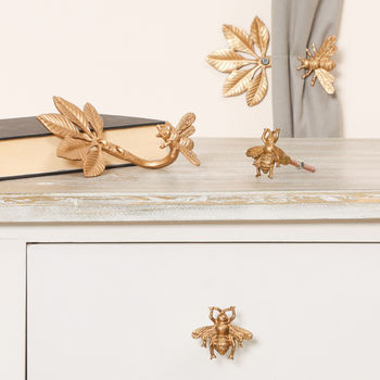 Golden Bee Hooks And Drawer Pulls