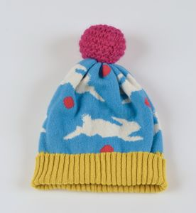 Rabbit Lambswool Knitted Bobble Hat Bright Colours - hats, scarves & gloves