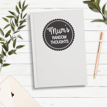 Personalised Random Thoughts Notebook