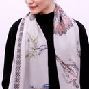 "Personalised ""Treasured"" Feather Gold Foil Scarf"