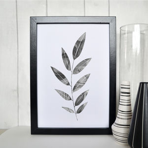 Olive Leaf Marble Illustration Print - gallery wall edit