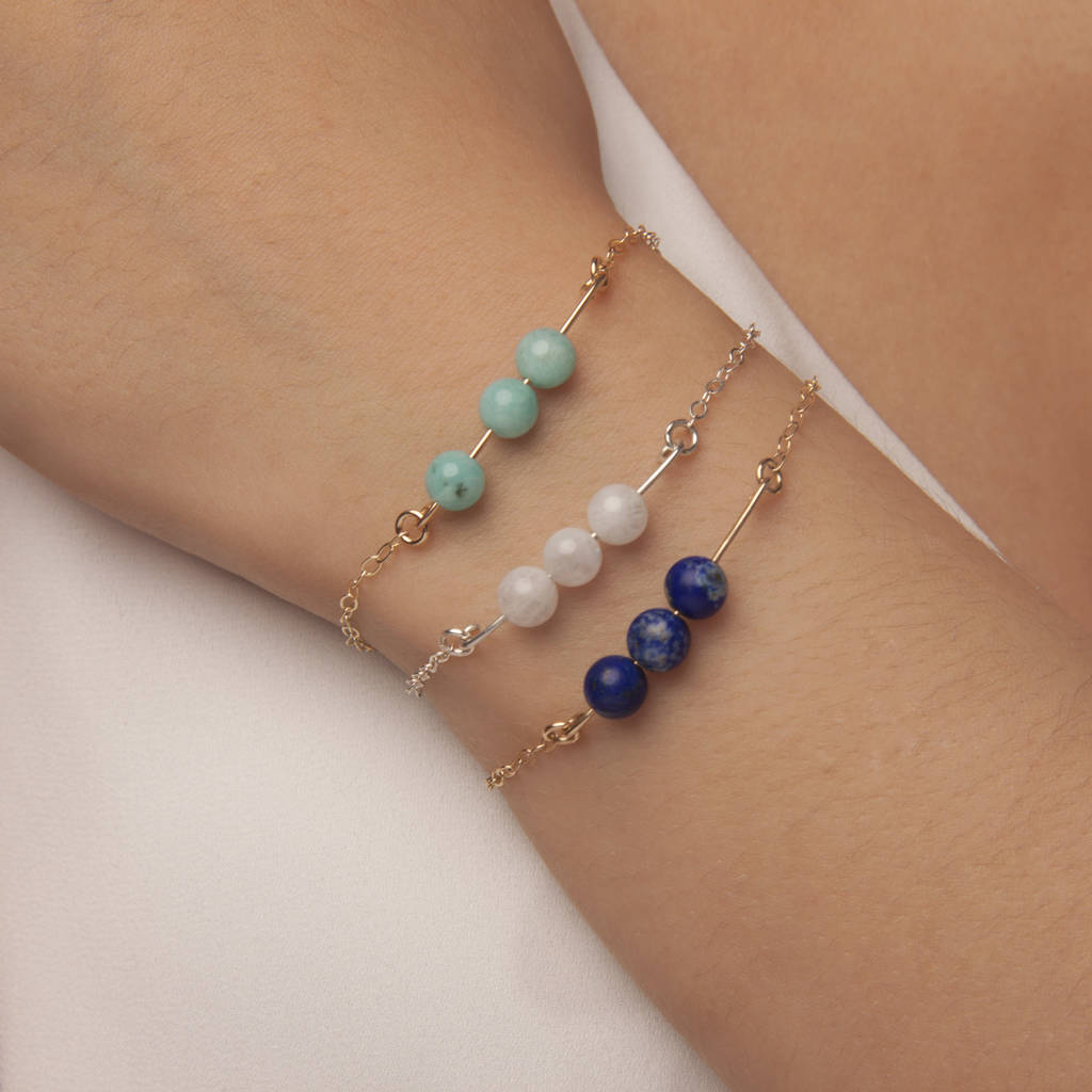Gold Or Silver Moonstone Bracelet