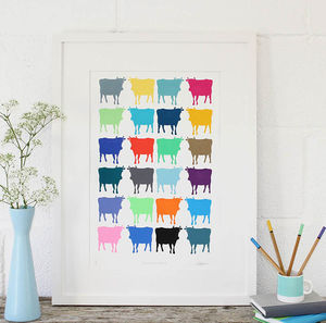 Cornish Cows Series Four Limited Edition Screen Print