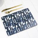 Paloma Placemat, Blue Abstract Tablemat
