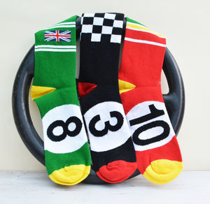 Gift Set Of Two Pairs Of Motoring Leg Ends Socks - underwear & socks