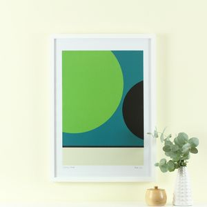 'Eternity's Double' Screen Print Mid Century Modern Art - posters & prints