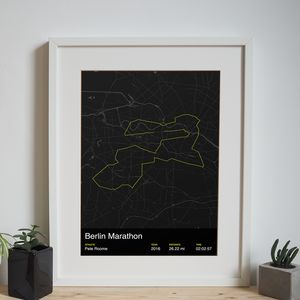 Personalised Berlin Marathon Map Print - posters & prints